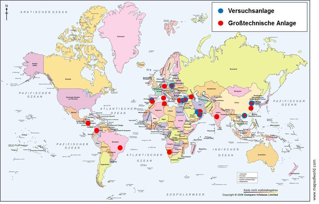 Karte der Projekte
