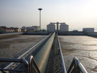 Aeration tanks at WWTP in China (Photo credit: IWAR)