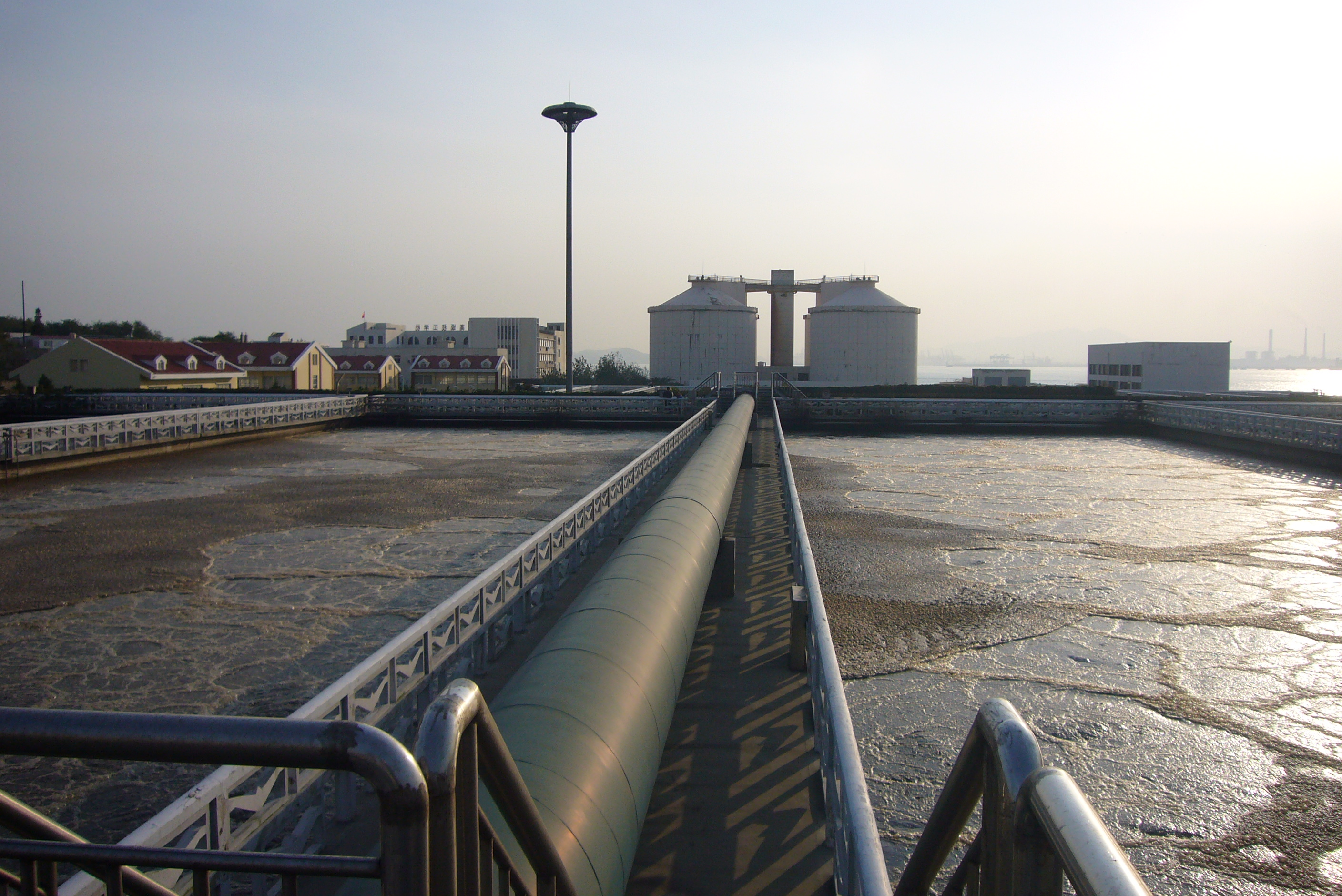 Aeration tank at WWTP in China (Photo credit: IWAR)